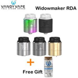 Free Gift! Original  Widowmaker RDA Tank 1ML VandyVape Three adjustable airflow Caps Atomizer for E Cigarette Mod Box