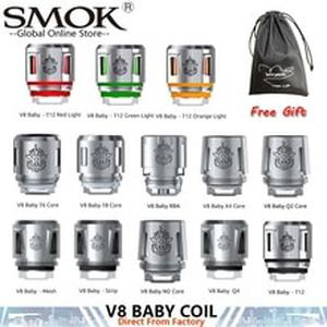Original Smok TFV8 Baby Coil Q2 M2 T8 T12 Strip X4 T6 Mesh For  TFV8 BIG BABY TFV12 Baby Prince Tank Fit For Smok Mag X Priv