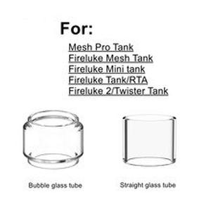 3pcs Pack Pyrex Glass Tube For  Fireluke 2 Mesh Pro Mini Twister Tank RTA Atomizer Glass Tank