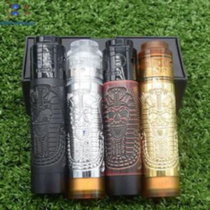 2019 new Pharaoh Mech Mod Slim Piece with QP KALI RDA 18650 Battery 26mm diamater Mechanical Vaporizer Slam Piece Vape Pen Mod