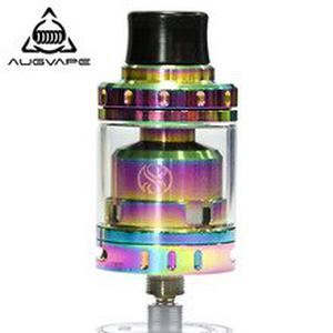 Merlin Mini RTA Atomizer Tank Rainbow Vaporizer Vape with Single Sided 2 Post Velocity Style Deck E-Cigarette Tank