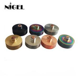 Nigel 24 MM 22MM Metal round Colorful 510 Heat Dissipation Heat Sink Atomizer Radiator for 510 24mm RDA Tank vape Mod Hot Sale
