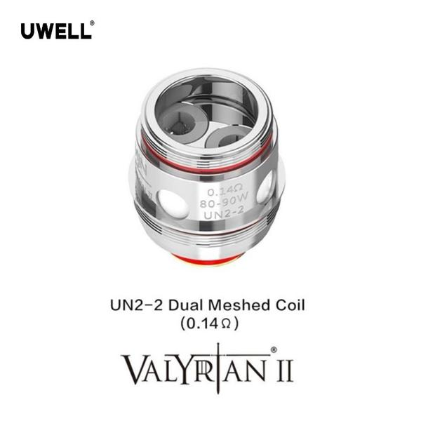 UWELL 2PCS VALYRIAN 2 UN2-2 Replacement Coil 0.14ohm  Dual Meshed Coil for Electronic Cigarette VALYRIAN 2 Tank