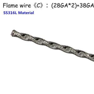 Flame Heating Wire Ni80 SS316 Material for Premade Prebuilt Coil RTA RDA DIY Vape