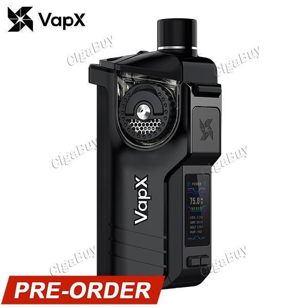 VapX Geyser 100W Pod Kit Without Battery - Charcoal Black