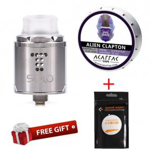 Drop Solo RDA(Get AKATTAK Kanthal A1 Alien Clapton Prebuilt Coils 20pcs and Geek vape Koh Gen Do (Organic cotton) for free)