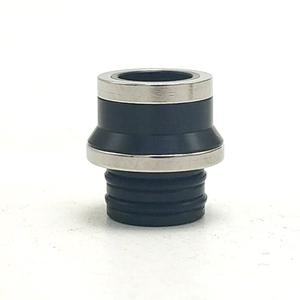 Replacement 510 Drip Tip PEI + 316SS for Hussar Project X Style RTA  by  - Black + Silver