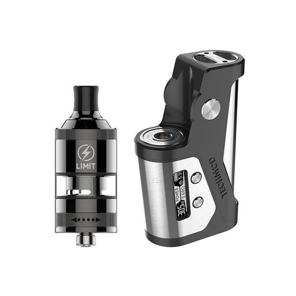 (Presale) Authencit Kizoku Techmod  80W Mod Kit with Limit MTL RTA Kit 3ml,1x18650 - Black