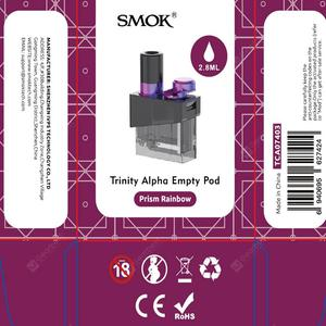 Original Smok Trinity Alpha Replacement Empty Pod Electronic cigarettes Tank 2.8ml with 2pcs Coil