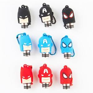 Metal Mouthpiece 510 Drip Tip with Silicone Cap Batman Spiderman Style for IJust S Melo 3 Mini TFV8 Baby Atomizer 1pcs retail