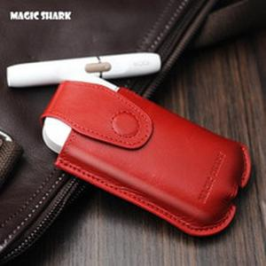 Magic Shark Genuine Leather Case for IQOS E Cigarette Shell Protective Case Cover Bag For IQOS Black Brown