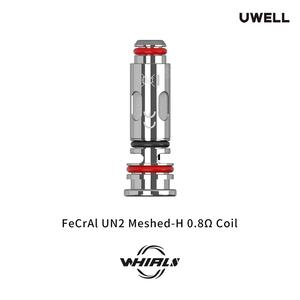 Whirl S Replacement Coil FeCrAI UN2 Meshed-H 0.8ohm Coil Pro-FOCS Flavor Testing Technology for  Whirl S Kit  4pcs/Pack