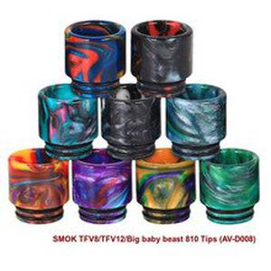 810 Drip Tip Connor Resin Quick Fitting Wide Bore Mouthpiece E-Cigarette Accessory for RDA Tank Atomizer