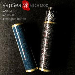 Original VapSea YUAN 24mm Diameter 18650 mod kit battery Mechanical mod for vape mod 18650 electronic cigarette mech mod Kit