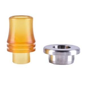 810 turn 510 316SS Drip Tip Adapter w/ 510 PEI Drip Tip for  Extreme Style RTA Atomizer  - Yellow + Silver