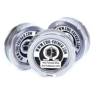 (0.2*0.8)X2 0.36ohm Flat Twisted Wire for RBA Atomizer (15FT) - Silver
