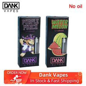 10pcs Dank Vapes Cartridge electronic cigarette atomizers Sunset Sherbet/Durban Poison/Strawberry Cough for 54 Flavors