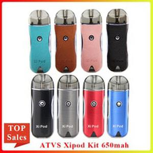 Newest Vape Pod ATVS Xipod pod Kit 650mah Battery & 2ML Ceramic Coil Cartridge E Cigarette mini Vape Kit vs minifit kit