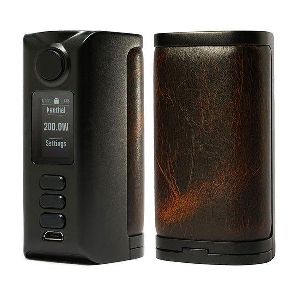 (Presale)    Riva  DNA250C 200W  -  VW 1~200W, 2 x 18650, Evolv DNA250C chipset - Black-Vintage Brown