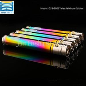 GS EGO 2 II Twist Rainbow 2200mAh Battery Electronic Cigarette battery ego twist Battery  fit CE4  MT3 510 EGO Atomizers