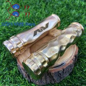 Newest arrive AV MOD Mech Mod 18650 Battery 24mm Mechanical brass Body Mod Vaporizer Steam Mod For 510 Thread Atomizers RBA RTA
