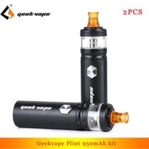 2pcs  Flint IPX5 super compact kit 950mAh Vaporizer with 2ml atomizer E Cigarette Kit for nicotine salt