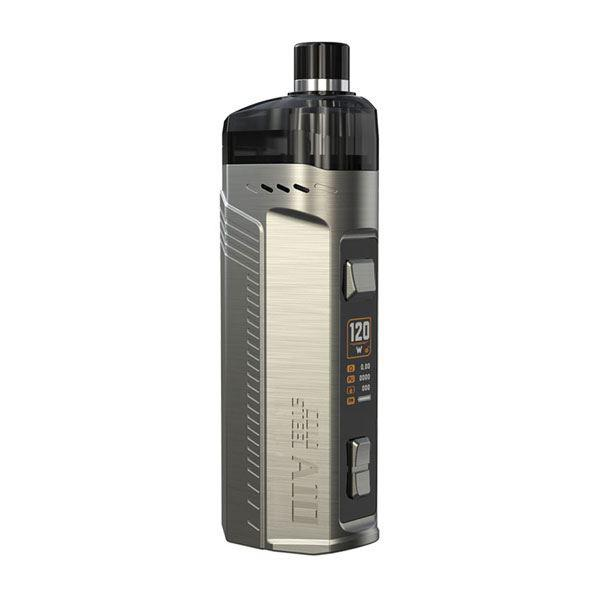 Artery  Cold Steel AIO 120W Pod System Vape Mod Kit RBA Version - 1 x 18650 / 20700 / 21700, 2.0ml - Silver