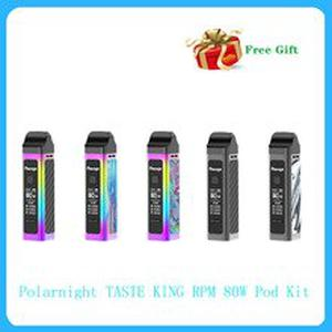 New arrival Polarnight TASTE KING RPM 80W Pod Kit 1500mAh built-in Battery with 4.0ml & 3.5ml pod capacity Vape Kit VS Vinci mod