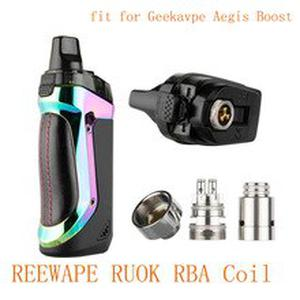 Newest 1pcs/pack REEWAPE RUOK RBA Coil fit for Geekavpe Aegis Boost electronic cigarette vape kit Vape accessory