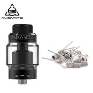 Merlin MTL RTA Atomizer With Clapton 10pcs Dual Core Fused Coils 5ml 22MM Top filling MTL Drip Tip Vape Tank RTA