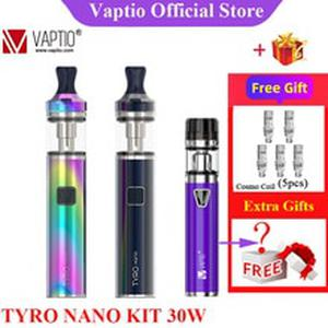 Gifts 30W Vape Kit VAPTIO TYRO NANO Starter Kit 900mah Battery 2ml Atomizer Tank Fit 1.6ohm Coils Electronic Cigarette Kit