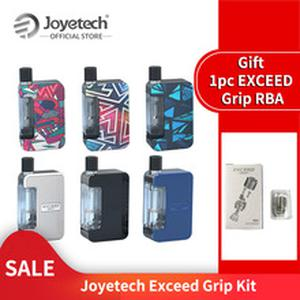 Original  Exceed Grip Pod Kit Built in 1000mAh Battery with EX-M Mesh Coil gift RBA coil E-Cigarette Pod