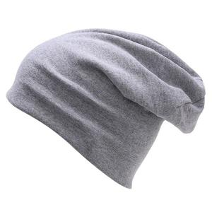 NUZADA Autumn and winter solid color warm dual-use cap - Grey