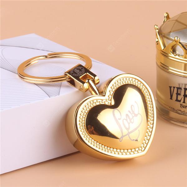 Creative Rose Love Keychain USB Charging Lighter Gift Smoking Personality Metal Electronic Cigarette Lighter