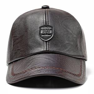 Outdoor warm and windproof middle-aged baseball cap - Dark brown