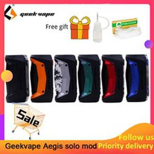 Original GeekVape Aegis Solo mod 100W Vape mod by 18650 battery for Tengu RDA E Cigarette Fit 510 E Cigarette box mod