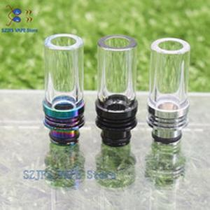 510/810 Glass Long Drip Tip Pyrex Glass Stainless Core Bend Mouthpiece For 510/810 Anti-fried Oil Wide Bore Vape Atomizer gtr1.5