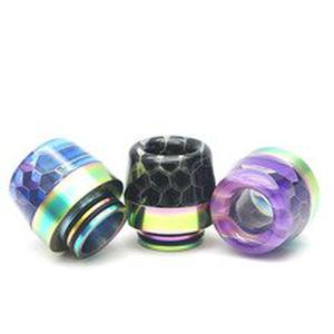 810 Drip Tip Resin+Stainless steell Hybrid Material Drip Tip Suit For  SKRR S  tank Atomizer ETC
