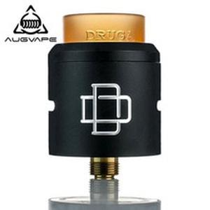 Druga RDA Tank Atomizer for Electronic Cigarette 24mm Dual Post Gold Plated Build Deck Dripka Vaporizer Vape Tank