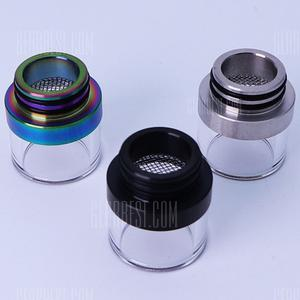 Genuine AOLVAPE 810 Straight Single Ring With Filter Two In One Stitching Nozzle -3 Colors / Bag - Blue, Black, Iridescent
