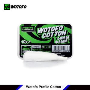 10pcs  Profile Cotton Wick 6mm cottons with aglet fit for wotofo Profile RDA