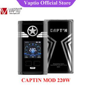 Original  CAPT'N 220W Mod Electronic Cigarette vape mod with 1.3inch OLED Screen Support VW 18650 Battery (No batteery)