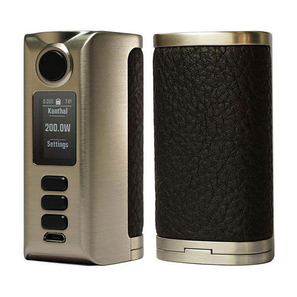 (Presale)    Riva  DNA250C 200W  -  VW 1~200W, 2 x 18650, Evolv DNA250C chipset - Silver-Rough Dark Brown