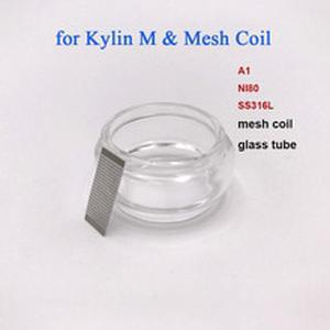 10pcs/Pack A1 NI80 SS316L Mesh wire Coil and 1PC bubble Glass Tube compatible for  Kylin M RTA Atomizer Replacement