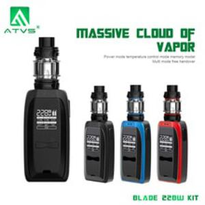 Original AVTS New Electronic Cigarette BLADE 228W adjustable  kit Vape 18650 battery 5ml capacity 510 Thread Vaporizer