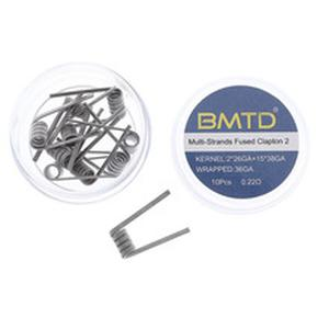 10Pcs NI80 Juggernaut Staple Framed Staple Multi-Strands Fused Clapton Heating Wire coil RDA Atomizer Prebuilt Coils