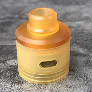 Replacement PEI Top Cap + Drip Tip for Skyfall RDA Atomizer by YFTK - Yellow