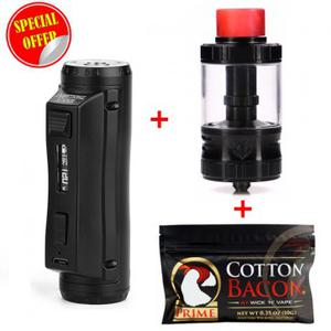 [Special Offer]G-taste Aries 30 RTA &  Cold Steel 100 120W TC  & Cotton Bacon Prime by Wick 'N' Vape