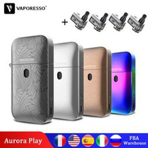 Original  Aurora Play Pod Vape Kit Vape 2ml Capacity POD 650mAh Built-in Battery Press-To-Fill Design ZIPPO E-Cigarette