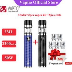 2200mAh 50W vape kit  Solo F2 electronic cigarette kit  with Atomizer capacity of 2.0ml built in battery e cig kit